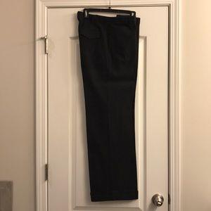 Express Stretch wide leg gray dress slacks